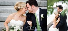 Nyk + Cali Wedding Photography | Nashville, TN | Nashville War Memorial Auditorium | Bride + Groom | Pool | Navy + White | Green | Trees | Love | Romantic |