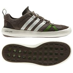 premium selection 82ffc b3ecc Grippy, lightweight and breathable, these Adidas Boat CC Lace shoes feature  Climacool to channel c.