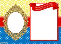 Decisive image within snow white invitations printable