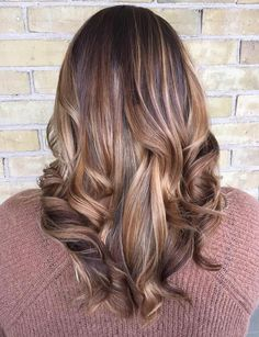 Medium+Brown+Balayage+Hair