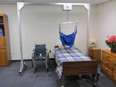 Titan 500 Freestanding Overhead Patient Lift for Home Health Care.