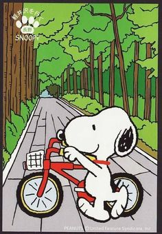 Snoppy goes cycling