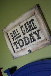 Sign For Baseball Room