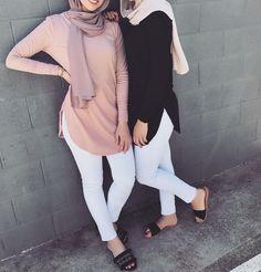 Hijab Fashion Summer, Modern Hijab Fashion, Modesty Fashion, Hijab Fashion Inspiration, Islamic Fashion, Muslim Fashion, Fashion Wear, Fashion Pants, Fashion Outfits