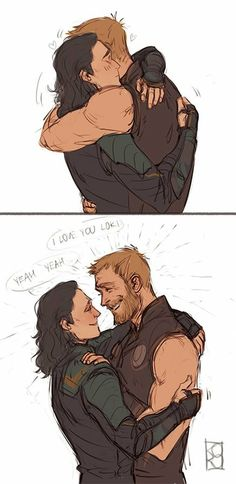 The hug we neeed Thor X Loki, Loki Marvel, Loki Laufeyson, Loki Fan Art, Avengers Comics, Fanart, Spideypool, Tom Hiddleston Loki, Stony