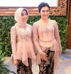 baju kebaya Kebaya Modern Hijab, Model Kebaya Modern, Kebaya Hijab, Kebaya Brokat, Kebaya Muslim, Muslim Dress, Dress Brukat, Hijab Dress Party, Hijab Style Dress