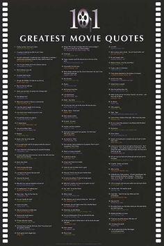 101 movie quotes