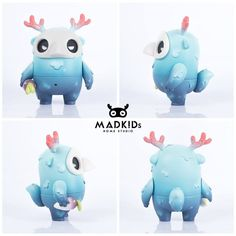 The Toy Chronicle | Muffinn Forest Green & Galaxtic Blue by MADKIDs Home Studio 3d Character, Character Concept, Character Design, Vinyl Toys, Vinyl Art, Character Illustration, Illustration Art, Modelos 3d, Mascot Design