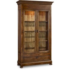 Hooker Furniture Cecile Display Cabinet ($2,299) ❤ liked on Polyvore featuring home, furniture, storage & shelves, display units, outdoor furniture, hand made furniture, shelves furniture, hooker furniture and outdoor shelving