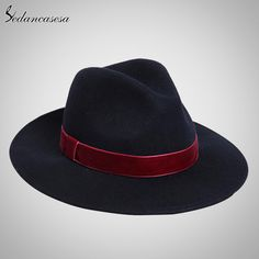 Spring England Style Vintage Woman Mens Fedora Hat Felt Caps With Red Band Wholesale Black Women Felt Hats Who like it ? #shop #beauty #Woman's fashion #Products #Hat