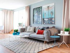 Colourful living room - Great and easy colour combination