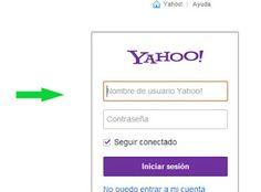 iniciar sesion en Yahoo