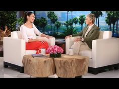 The gorgeous Gal is filling Wonder Woman's shoes, and joined Ellen for her talk show debut!