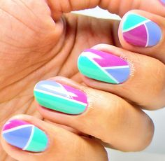 Guest Post: Colour Block Nail Art from Carmina aka Cubbiful | Lucy's Stash | Bloglovin'