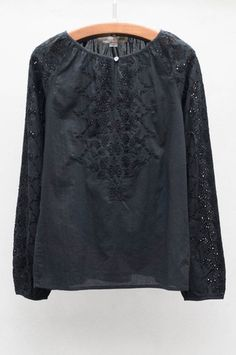 Graham and Spencer Black Embroidered Top at HEIST
