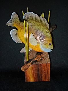 Bluegill wood carving