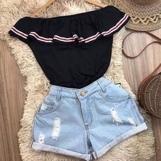 Pin on 15 Pin on 15 Teenage Outfits, Teen Fashion Outfits, Cute Fashion, Outfits For Teens, Girl Outfits, Cute Swag Outfits, Cute Summer Outfits, Stylish Outfits, Mode Shorts