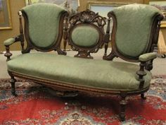 Victorian Renaissance Revival carved settee in the manor of John Jelliff with openwork cameo centered back