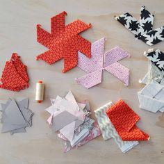 Half Hexagon Paper Pieces