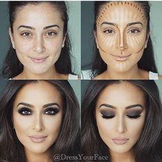 We ❤️ this makeup transformation! @dressyourface #saudibeautyblog
