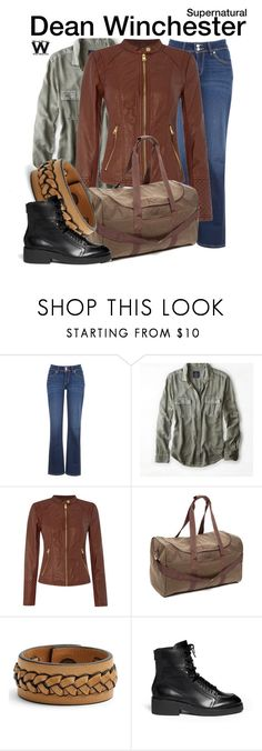 """""""Supernatural"""" by wearwhatyouwatch ❤ liked on Polyvore featuring Levi's, American Eagle Outfitters, Andrew Marc, INC International Concepts, Frye, Ash, television and wearwhatyouwatch"""