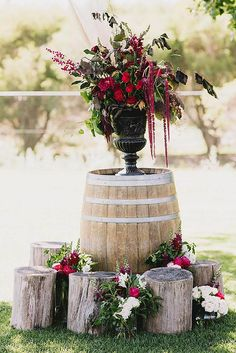 Rustic wedding decorations chic rustic country wedding decoration with stumps and rustic outdoor wedding ceremony decorations . Rustic Country Wedding Decorations, Rustic Wedding Colors, Rustic Wedding Showers, Rustic Wedding Photos, Rustic Wedding Centerpieces, Wedding Country, Country Weddings, Garden Decorations, Centerpiece Ideas