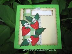 Greeting card. Strawberry