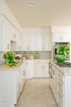 white cabinets!