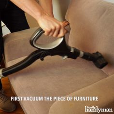 Ready to create the perfect piece of furniture — one just right for you .Ready to create the perfect piece of furniture — one just right for your home and your lifestyle? Diy Home Cleaning, House Cleaning Tips, Diy Cleaning Products, Diy Furniture Covers, Diy Furniture Videos, Cleaning Microfiber Couch, Clean Couch, Whitewash Wood, Diy Videos