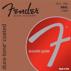 Fender Dura-Tone Coated 80/20 Bronze Acoustic Guitar Strings