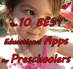 Best iPad Apps for Preschool and Kindergarten Kids  - so good for my homeschool teaching and for reinforcing classroom learning.  Pin now and click later...