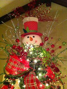 Snow Man Tree Topper