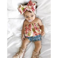 Our baby girl clothes & new child attire are severely delightful. Baby Girl Fashion, Toddler Fashion, Kids Fashion, Fashion Bags, Cute Kids, Cute Babies, Baby Kids, My Baby Girl, Baby Love