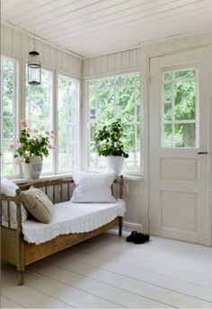a huge fan of enclosed porches Also known as a Florida Room. Not sure - I'm a huge fan of enclosed porches Also known as a Florida Room. Not sure -I'm a huge fan of enclosed porches Also known as. Modern Farmhouse, Farmhouse Decor, Farmhouse Style, Farmhouse Ideas, Vintage Farmhouse, Country Style, Sunroom Decorating, Sunroom Ideas, Porch Ideas