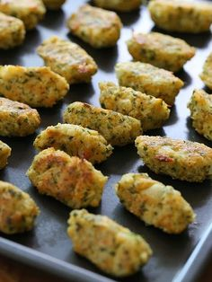 Cauliflower Tots by skinnytaste: A delicious and healthy way to get your family to eat more veggies. healthy mom, busy mom, healthy recipes, health and fitness, healthy tips Healthy Cooking, Healthy Snacks, Cooking Recipes, Healthy Sides, Healthy Eating, Vegetable Recipes, Vegetarian Recipes, Healthy Recipes, Snacks Recipes