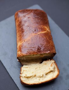 homemade buttery brioche bread loaves