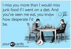 Food & Miss You Meme