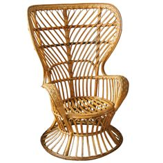 Rattan chair by Gio Ponti | From a unique collection of antique and modern lounge chairs at https://www.1stdibs.com/furniture/seating/lounge-chairs/