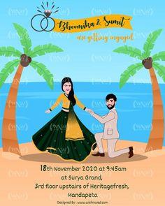 Engagement Invitations, Elegant Wedding Invitations, Custom Invitations, Beautiful Couple, Beach Themes, Shiva, Invite, Wish, Backgrounds