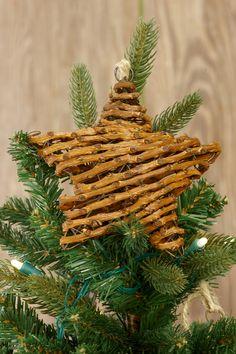 "6"" Grapevine Twig Christmas Star"