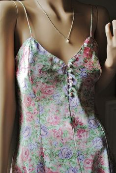 Vintage Flower Print Button up Nighty by by LingerieAddicts, $25.50