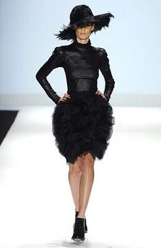 christian siriano's collection from project runway. amazing silhouette.