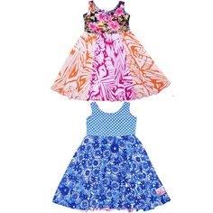 Funky kids dresses from TwirlyGirl.  This style is reversible and super-twirly.  Click to see more.