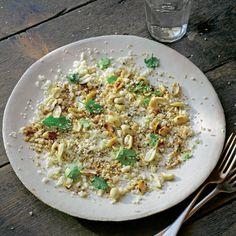 Raw cauliflower salad with peanuts & coriander (Hugh Fearnley-Whittingstall)