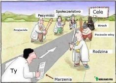 Droga marzeń... / The way to dreams (on the left: friends - no one pesimists society; on the right: family feeling of being guilty fear) :D   znalezione w grupie: Akademia Kreatorek
