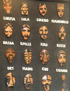 Liberia - Monrovia :: Tribes of Liberia and their respective masks