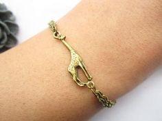 not an owl or elephant but cute all the same! braceletantique bronze little giraffe pendant & alloy by lightenme