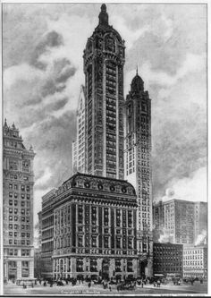 New York Architecture Images- Singer Building Big Building, Banks Building, New York Architecture, Architecture Images, New York City Buildings, Old Buildings, Lower Manhattan, New York Public Library, Roman Empire