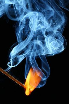 Fire art~~pictures in the smoke.