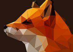 low poly fox by Caen-N.deviantart.com on @DeviantArt